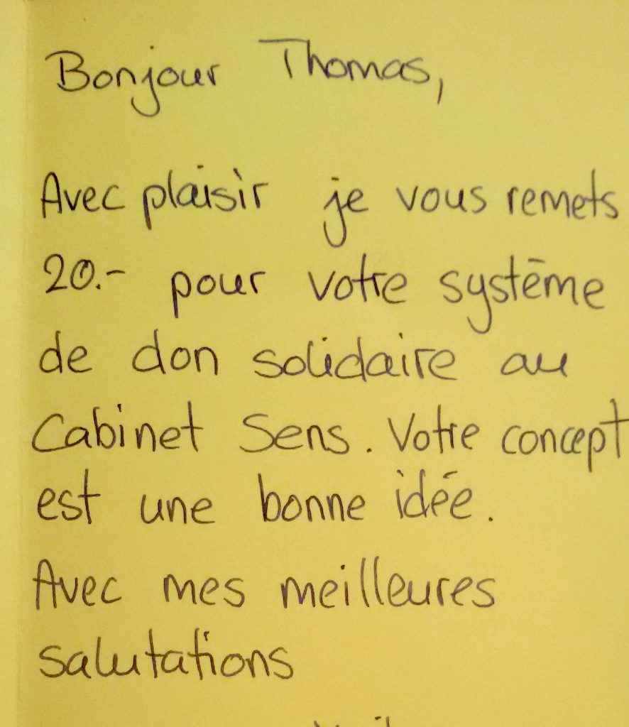 Don solidaire Cabinet Sens